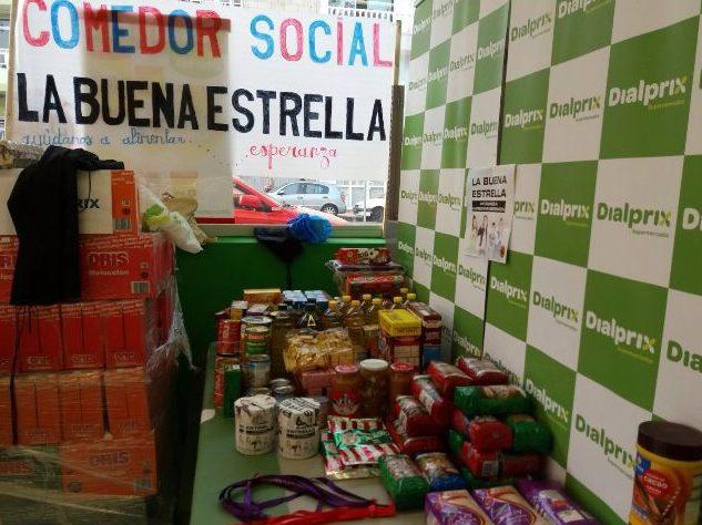 """Dialprix Canarias apoya al comedor social """"La buena estrella"""", ubicado en el barrio aronero de El Fraile, con una recogida y donación de 1.400 kg de alimentos."""
